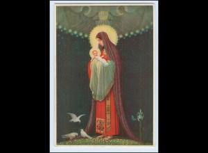 P3K19/ Jungfrau Mutter mit Tauben AK 1935 Kunstwerkstätten Abtei Maria Laach