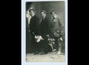 P3P34/ Studenten Studentika Privat Foto AK ca.1920 (b)