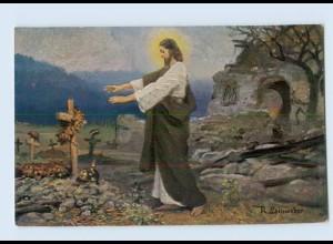 DP31/ Jesus am Soldatengrab 1. Weltkrieg AK Rotes Kreuz ca.1915