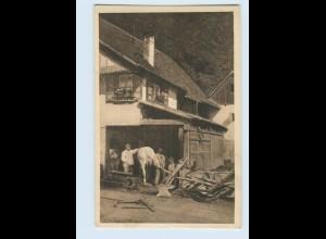 P3V32/ J. Elchlepp AK No. 104 Idyllen aus dem Schwarzwald ca.1912 Dorfschmiede