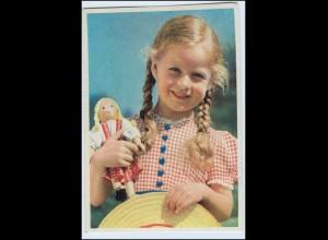 W0E95/ Mädchen mit Puppe AK ca.1950