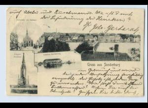 W0G73/ Gruß aus Sonderburg schöne AK 1910