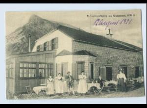 W0B96/ Ramsau bei Berchtesgaden Münchnerhaus am Watzmann schöne Ak 1921