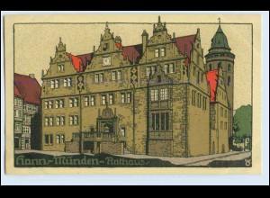 W0Q18/ Hann. Münden Rathaus Steinzeichnung Litho AK ca.1912