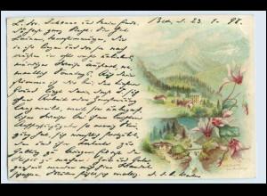 W0S69/ Les Avants sur Montreux schöne Schweiz Litho AK ca. 1898