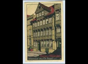 W0L20/ Hann. Münden schöne Steinzeichnung Litho AK ca.1912