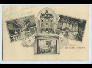 W0M86/ Elmshorn Cafe Lienau schöne AK 1912