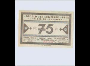 W0Z51/ 1 x Notgeld Gemeinde Heede Bz. Hemdingen