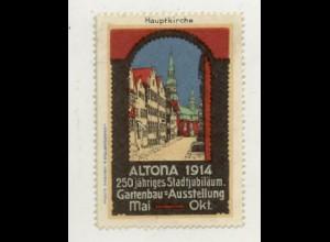 W0Z43/ Altona Gartenbau-Ausstellung 1914 Reklamemarke Hamburg