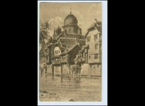W1J12/ Nürnberg Insel Schütt mit Synagoge Judaika AK ca.1910