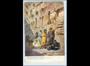 W1J13/ Palästina Juden an der Klagemauer Jerusalem F. Perlberg AK