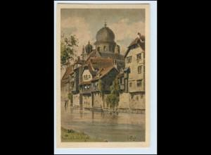 W1J21/ Nürnberg AK mir Synagoge ca.1912 Judaika