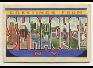 W1T78/ Syracuse New York USA Leporello Souvenir de Folder 18 Bilder 1943