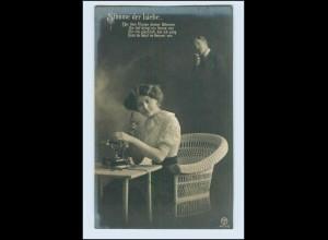 W2D49/ Telefon - Stimme der Liebe Fotomontage AK ca.1910