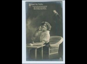 W2D46/ Telefon - Stimme der Liebe Fotomontage AK ca.1910