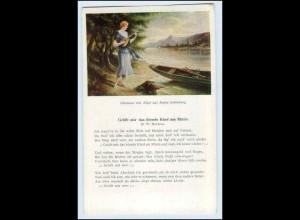 W2D02/ Rheinlieder AK Grüßt mir das blonde Kind... ca.1920 Lieder Oberwesel