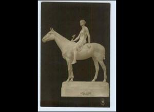 W2J27/ Skulptur Foto AK von Prof.Tuaillon ca.1912