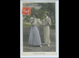 W2H85/ Tenns - L `Amour du Jeu Foto AK 1919