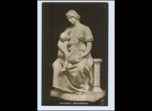 W2J25/ Skulptur Foto AK von Paul Dubols ca.1912