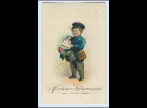W2R30/ Neujahr AK Kind als Briefträger Postbote 1927