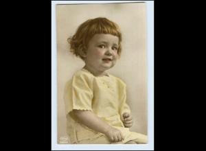 W2J96/ Kleines Mädchen Kind Foto AK ca.1912
