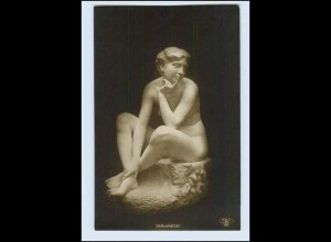 W2K54/ Skulptur Foto AK Träumerei - ca.1912