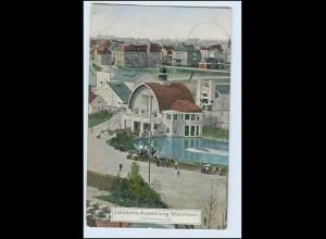 W2L14/ Mannheim Jubiläums-Ausstellung Teichrestaurant AK 1907