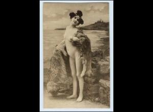 W3D61/ Erotik Akt junge Frau schöne AK ca.1912
