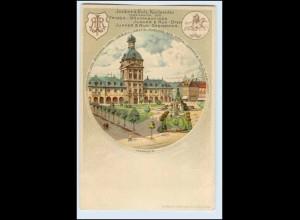 W2V68/ Mannheim Junker & Ruh Frigga Nähmaschinen Reklame Litho AK ca.1900