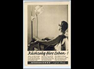 W2X40/ Höhensonne Original-Hanau Reklame AK 1938
