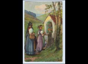 W3V13/ Schwarzwälder Leben Trachten AK Fr. Reiss 1911 Verlag: Elchlepp