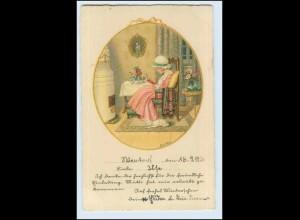 W3S67/ Pauli Ebner Mädchen liest ein Buch Litho AK 1936