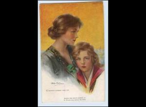 W3V42/ Philip Boileau Künstler AK Mutter und Kind ca.1912