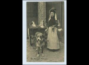 W3R60/ Hundekarren Vlaamsche Melkvrouw AK Belgien 1916