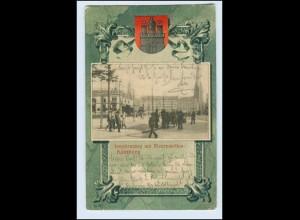 W3X72/ Hamburg Neustadt Jungfernstieg Knackstedt & Näther Wappen AK ca.1901