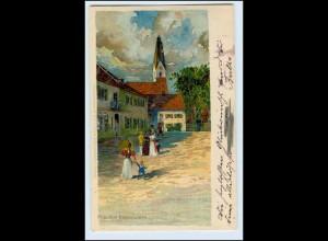 W3X64/ Pullach Rabenwirth Litho AK Carl Schmidt-HTS 1900