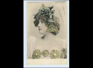 W4V84/ Lise Fleuron hübsche Frau AK 1905 Frankreich