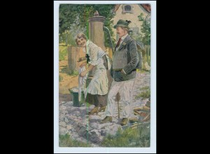 W5G41/ Ein Schwerenöter Künstler AK Hans Leiter 1918