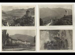 W5C52/ 4 x Foto AK Meran ca.1935