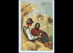W5H67/ Landwirtschaft Heuernte Tuck`s Künstler AK 1907