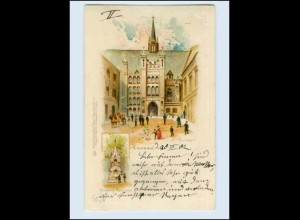 W5K36/ London Guildhall Litho AK 1902