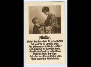 W5S25/ Muttertag Mutter und Sohn 1931 AK