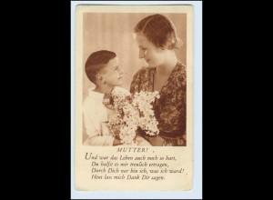 W5S27/ Muttertag Mutter und Sohn AK ca.1930