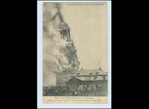 W5T30/ Hamburg Brand der Michaeliskirche Feuer-Katastrophe AK 1906