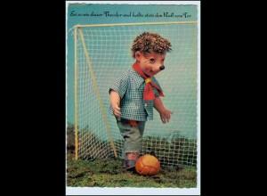 W5U87/ Mecki spielt Fußball Verlag: A. Kiener Schweiz ca.1965 AK