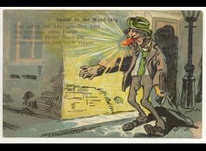W5V53/ Betrunkener Mann Litho Humor Ak 1913