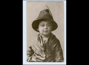 W5U30/ Kleine Junge mit Mütze Foto AK Uranotypie ca.1905