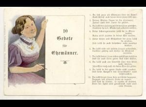 W6G52/ 10 Gebote für Ehemänner Humor AK ca.1900