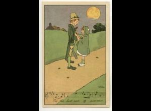 W6G64/ Hamish Duncan Künstler Litho AK Lieder ca.1912