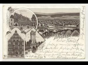 z7239/ Gruß aus Hameln schöne Litho AK 1895